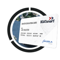 BOATsmart! boater education card. 3 easy steps to get to the water.