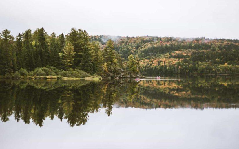 Algonquin Park canoeing lake