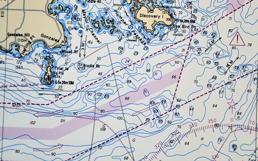 Nautical chart.