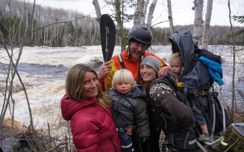 Campfire Collective Ambassador Mariann Sæther posing for the camera with family and friends.